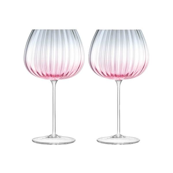 LSA Dusk Balloon Goblet 650ml Pink & Grey Set Of Two