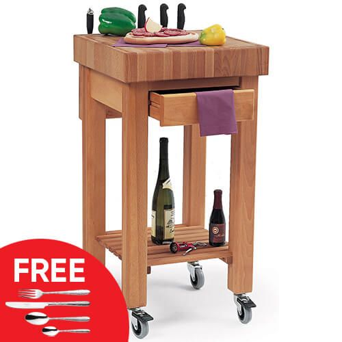 Eddingtons Marlborough Kitchen Trolley with FREE Gift