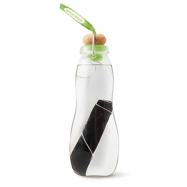 Black + Blum Eau Good Glass Charcoal Filter Water Bottle Lime