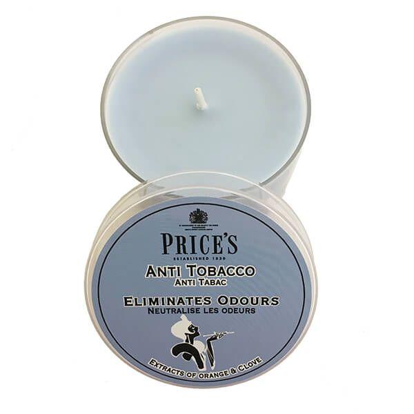 Prices Fresh Air Anti Tobacco Tin Candle