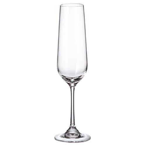 Crystalite Bohemia Strix Set Of 6 Flute Glasses