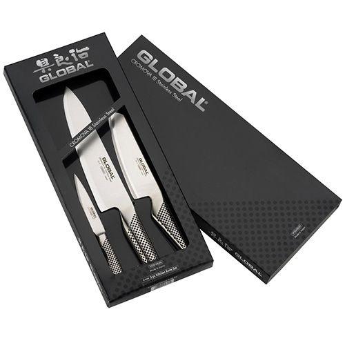 Global G-2538 3 Piece Kitchen Knife Set