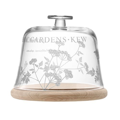 LSA Royal Botanical Gardens Kew Glass Dome & Oak Base - Cow Parsley