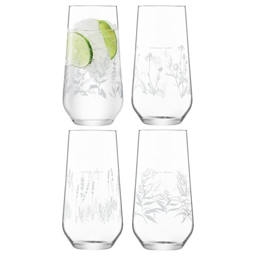 LSA Royal Botanical Gardens Kew Highball Glass 525ml Assorted Set of 4
