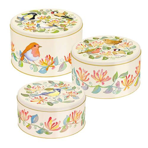 Emma Ball Garden Birds Cake Tins, Set of 3