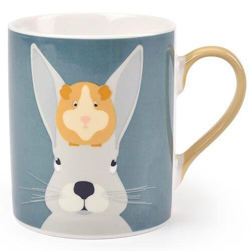 Burgon & Ball Creaturewares Arthur & Squeak Rabbit & Guinea Pig Fine China Mug