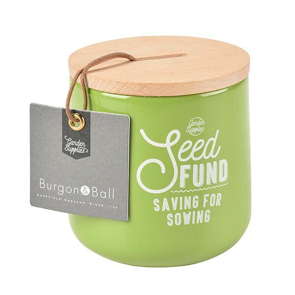 Burgon & Ball Seed Fund Money Box - Gooseberry