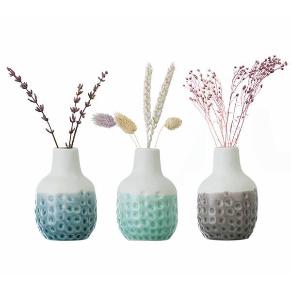 Burgon & Ball Dotty Mini Vase Trio
