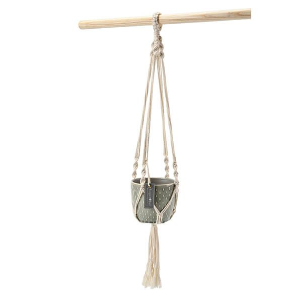 Burgon & Ball Glazed Pot Macrame