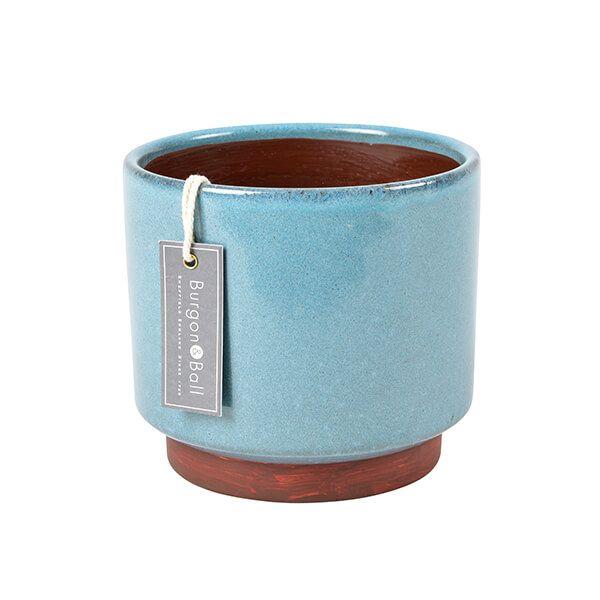 Burgon & Ball Malibu Blue Large Glazed Pot