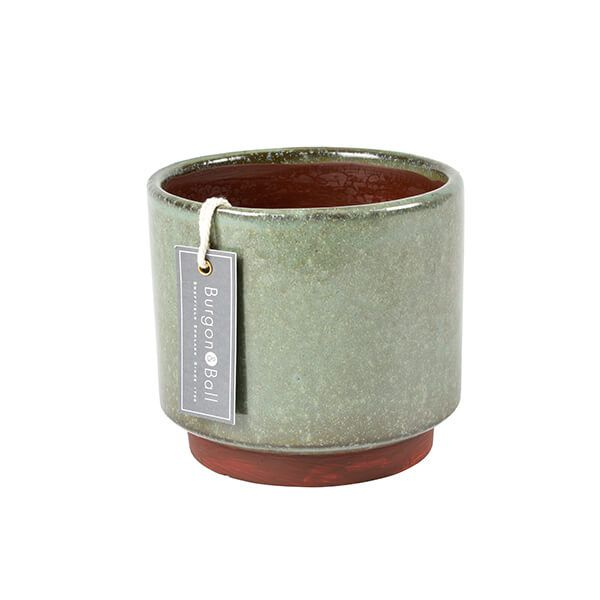 Burgon & Ball Malibu Green Medium Glazed Pot