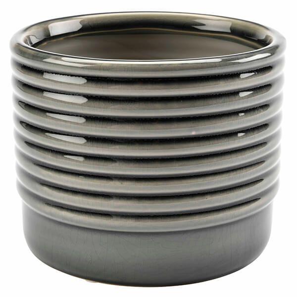 Burgon & Ball Oslo Grey Large Glazed Pot