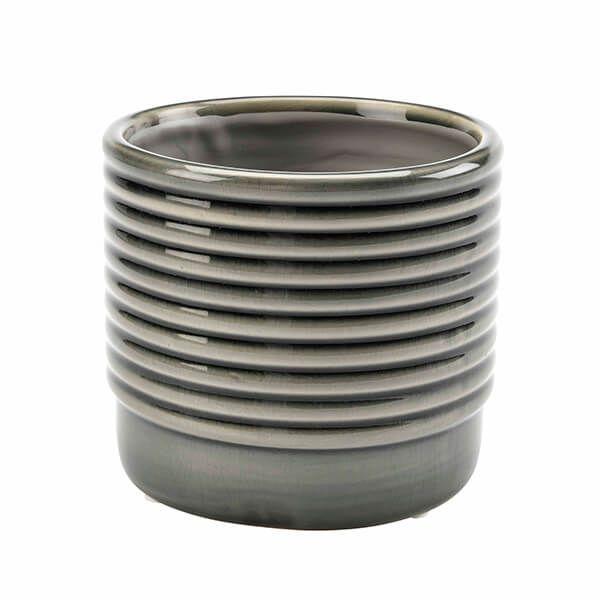 Burgon & Ball Oslo Grey Small Glazed Pot