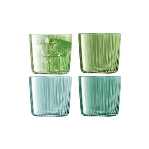 LSA Gems Tumbler 310ml Assorted Jade Set Of 4
