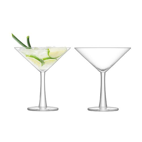 LSA Gin Cocktail Glass 220ml Clear Set Of 2