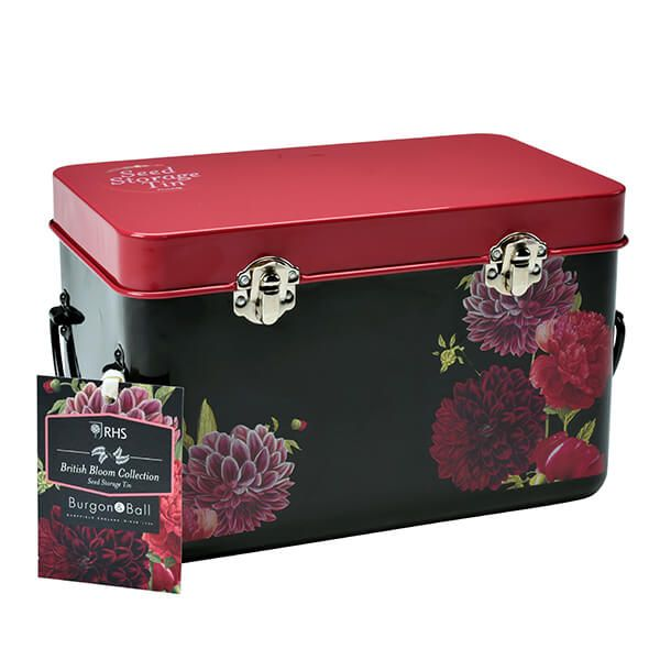 RHS British Bloom Seed Storage Tin