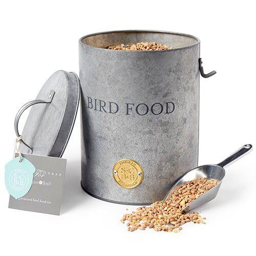 Burgon & Ball Sophie Conran Galvanized Bird Food Tin