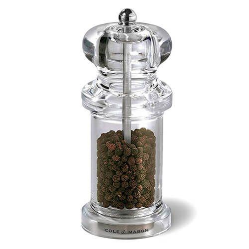 Cole & Mason 505 Clear Acrylic Precision Pepper Mill