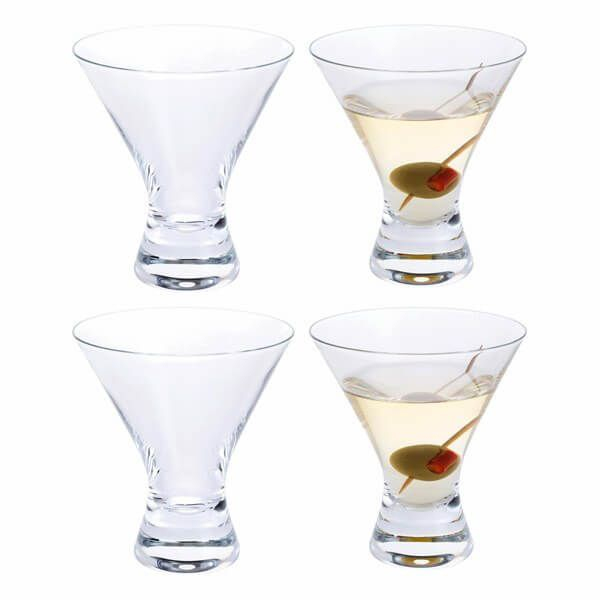Dartington Home Bar Martini Cocktail Glass Pack Of 4