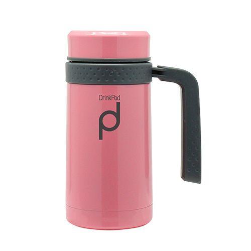 Grunwerg Drink Pod Travel Mug 0.45 Litre Pink