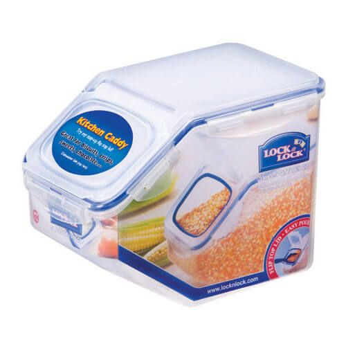 Lock & Lock 5 Litre Kitchen Caddy With Flip-top Lid
