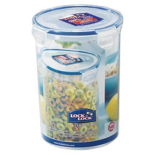 Lock & Lock 1.8 Litre Round Storage Container