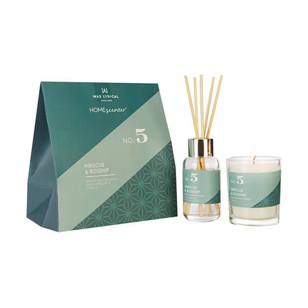 Wax Lyrical Homescenter Hibiscus & Rosehip Candle & Reed Diffuser Gift Set