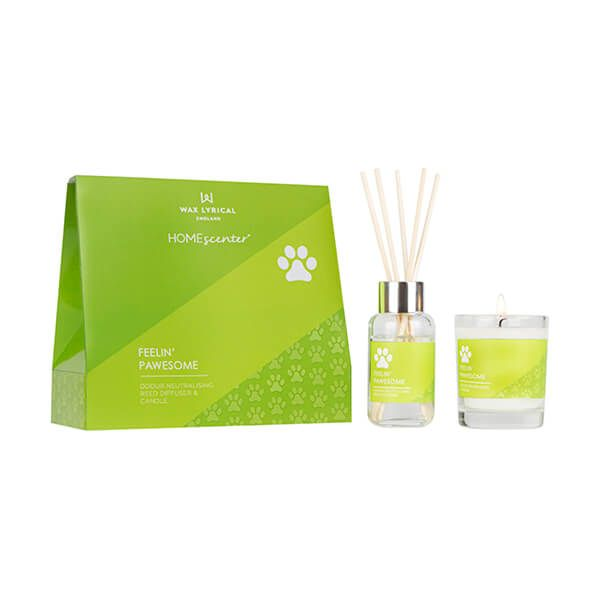 Wax Lyrical Homescenter Feeling Pawsome Candle & Reed Diffuser Gift Set