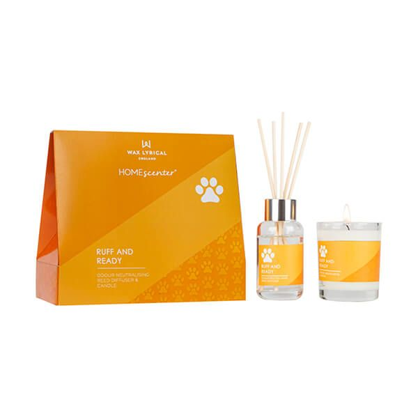 Wax Lyrical Homescenter Ruff & Ready Candle & Reed Diffuser Gift Set