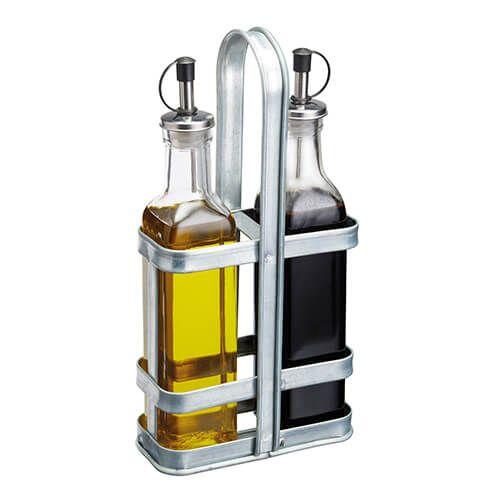 Industrial Kitchen Glass Oil & Vinegar Set