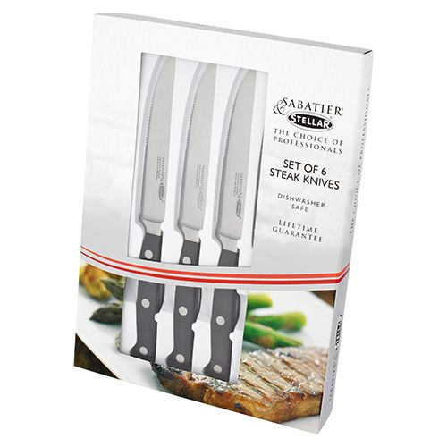 Stellar Sabatier Set Of 6 Steak Knives