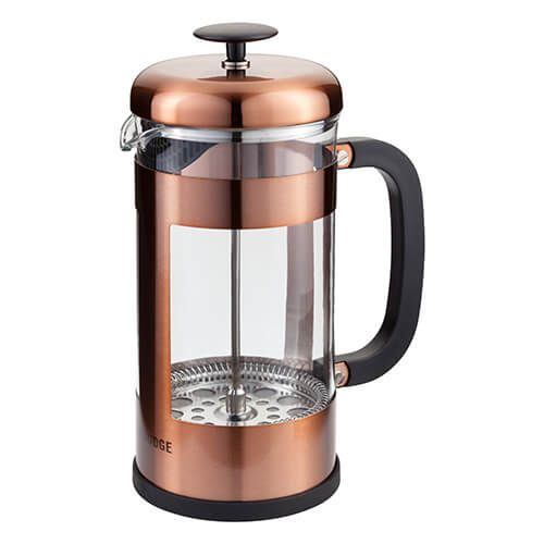 Judge 8 Cup Glass Cafetiere Copper