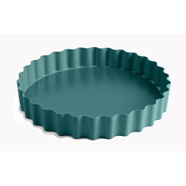 Jamie Oliver Atlantic Green 10in/25cm Non-Stick Loose Base Tart Tin