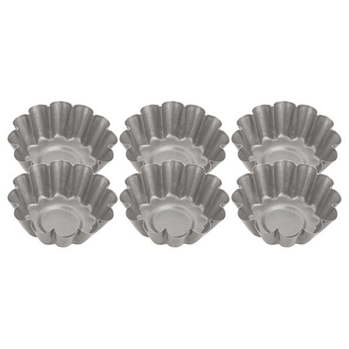 Judge Bakeware Fluted Mini Tart Tins (Set Of Six)