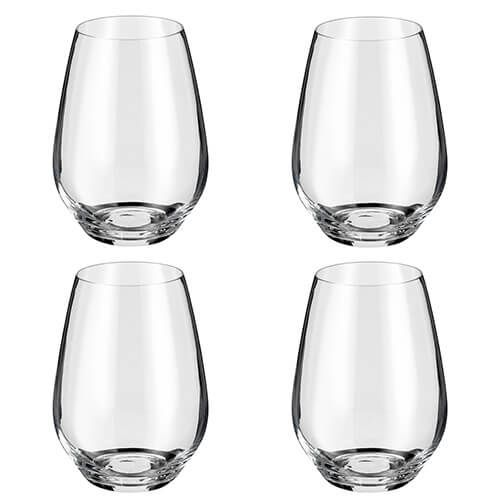 Judge Crystalline Set of 4 Stemless Wine Glasses 540ml