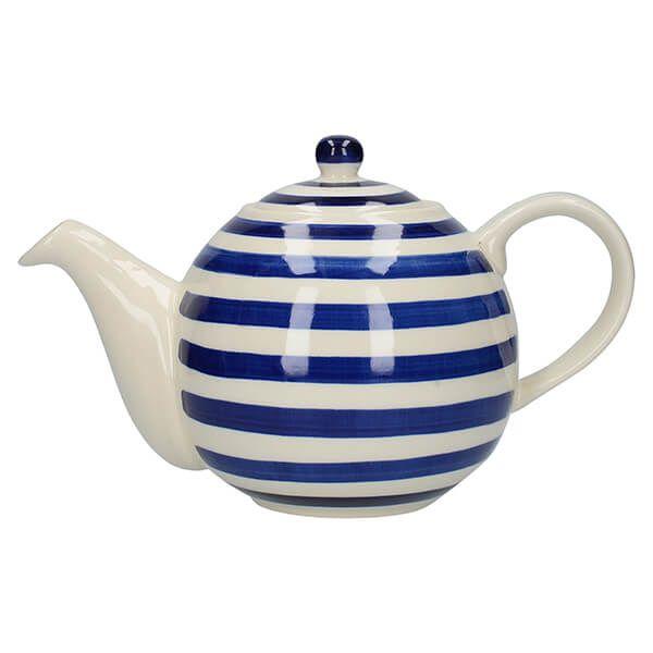 London Pottery Globe 4 Cup Teapot Blue Bands