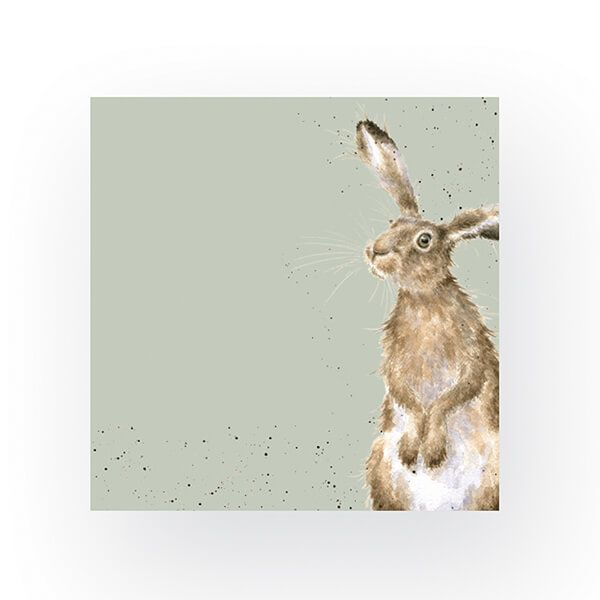Wrendale Designs Pack of 20 Cocktail Size 'The Hare and The Bee' Hare Napkins