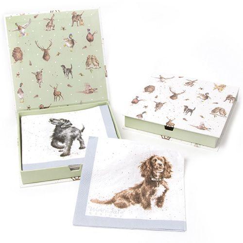 Wrendale Designs Walkies Pack Of 20 Napkins Boxed