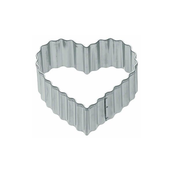 KitchenCraft 5cm Fluted Heart Shaped Metal Cookie Cutter
