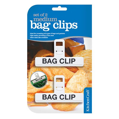 KitchenCraft Set of Two Medium Plastic Bag Clips