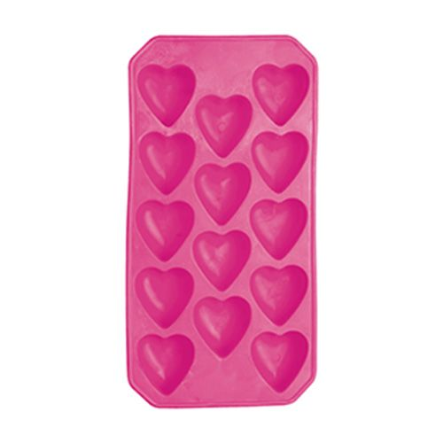 BarCraft Mix It Flexible Heart Shape Ice Cube Tray