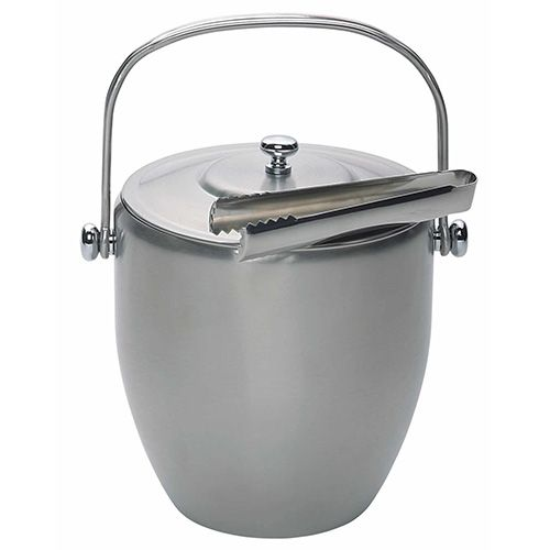 BarCraft Stainless Steel Ice Bucket & Tongs