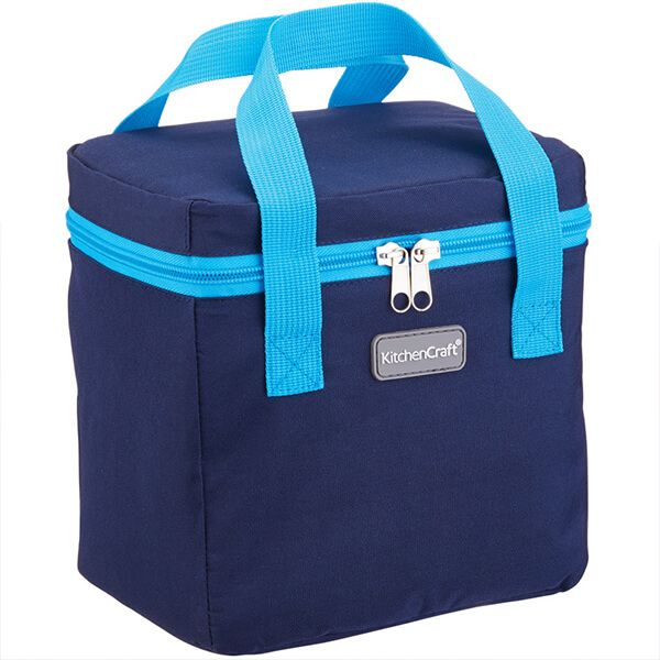 KitchenCraft 5 Litre Lunch Navy and Turquoise Cool Bag