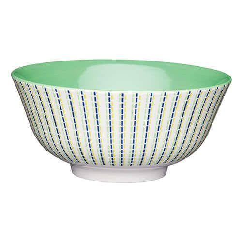 KitchenCraft Glazed Stoneware Bowl Lime Hues