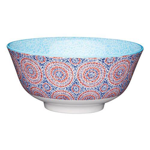 KitchenCraft Glazed Stoneware Bowl Mosaic