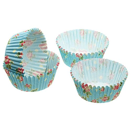 Sweetly Does It Pack of Sixty Vintage Rose Cupcake Cases