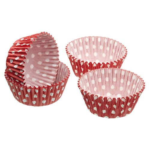 Sweetly Does It Pack of Sixty Red Polka Dot Cupcake Cases