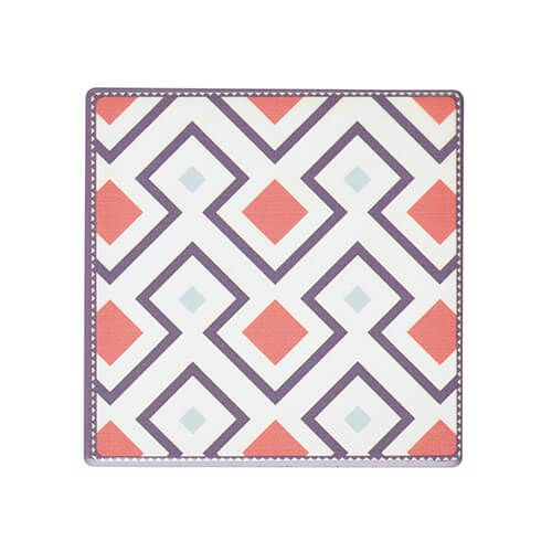 KitchenCraft Moroccan Inspired Terracotta Geo Cork Back Ceramic Coaster