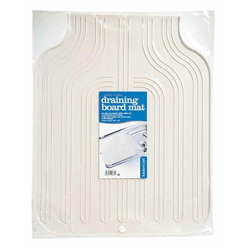 KitchenCraft Rubber Draining Board Mat, 51 x 41cm