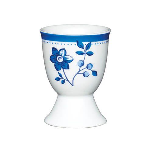 KitchenCraft Blue Flower Porcelain Egg Cup
